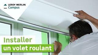 Comment installer une baie vitr e coulissante en aluminium leroy merlin y - Installer un volet roulant ...