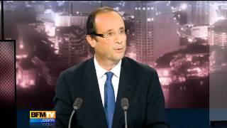 BFMTV 2012 - François Hollande face à Bernard Maris