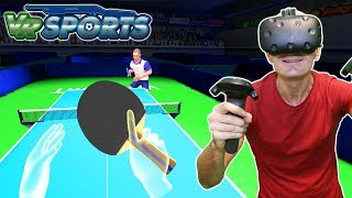 PING PONG DIFFICULTY LEVEL: HARDCORE | VR Sports Table Tennis DLC Gameplay on HTC Vive