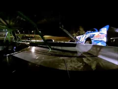 Josh Jackson Racing Spoon river Speedway 2nd place heat race in car camera 9 24 16