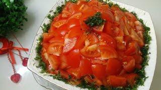 """КРАСНАЯ ШАПОЧКА"" Яркий Праздничный Салат! ""RED HAT"" Bright Festive Salad!"