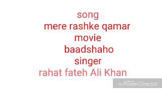 Mere rashke qamar karaoke song with lyrics