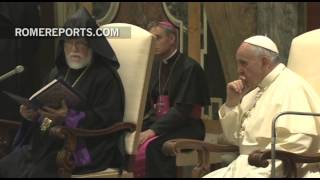 Pope Meets With Aram I, Head Of The Catholicos Of The Armenian Church Of Cilicia   Vatican