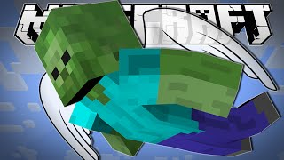 Minecraft | FLYING ZOMBIES?! | Blocking Dead Minigame