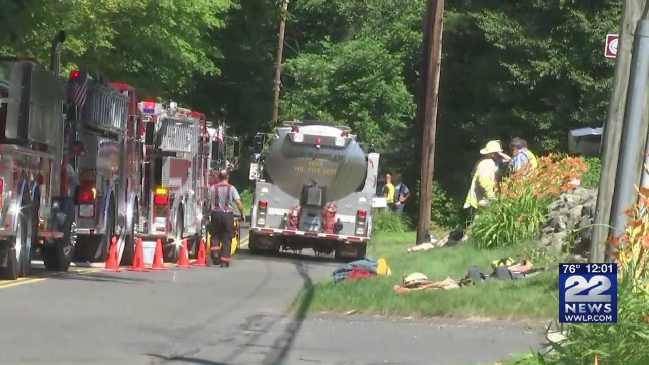 Lost Acres Road closed, one injured after fire in Granby, Connecticut