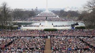 Inauguration crowds in fast forward