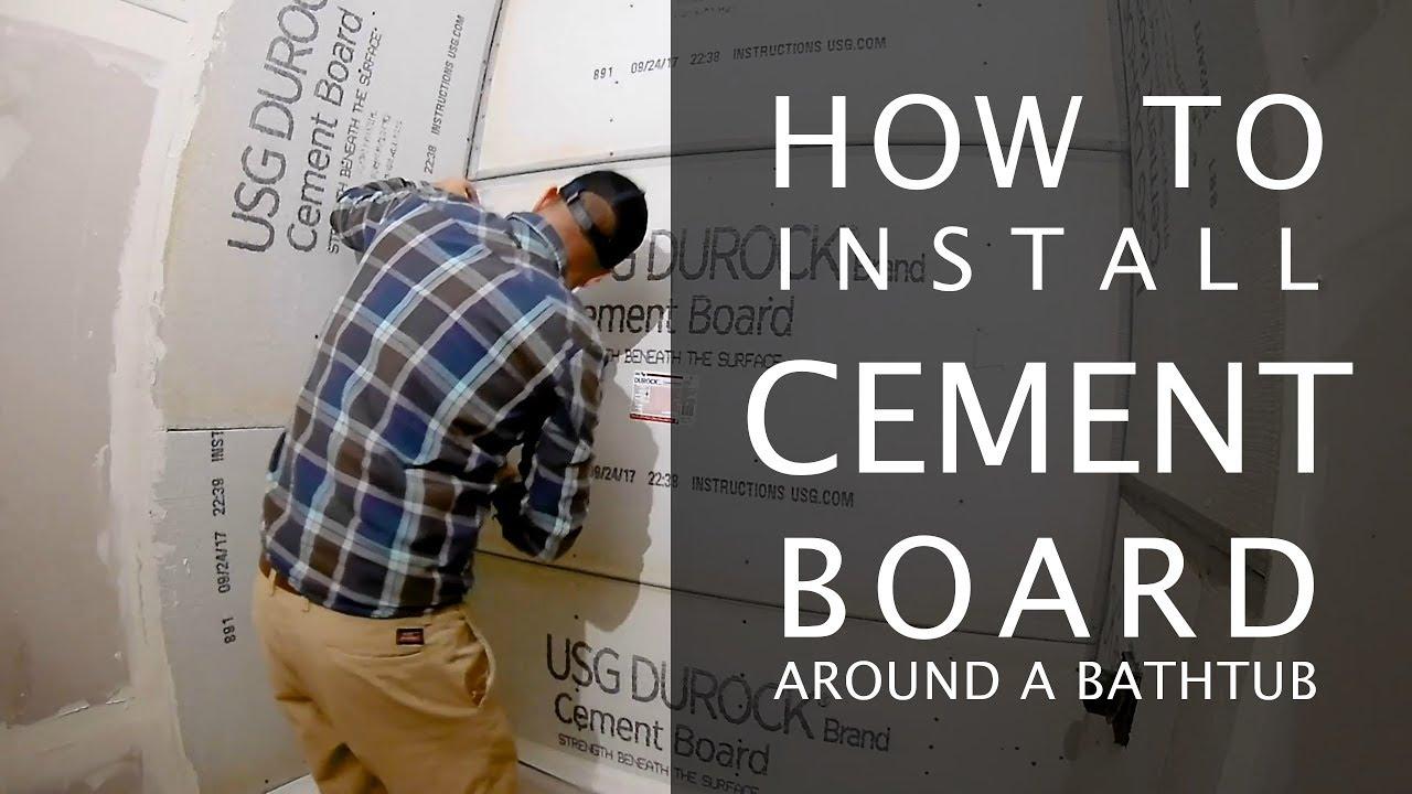 Cement Board Installation for a Bathtub Shower - YouTube
