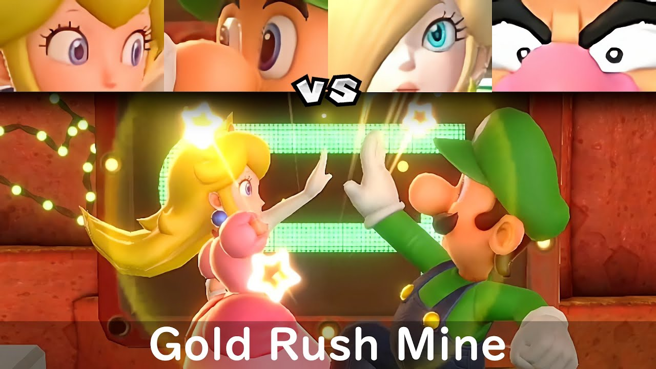 Super Mario Party Peach and Luigi vs Rosalina and Wario #77