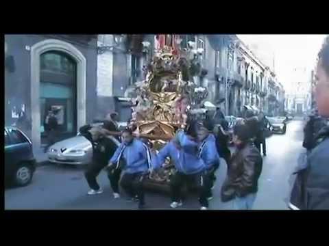 Candelora Cereo Rinoti - rientro - S.Agata 2009 Catania
