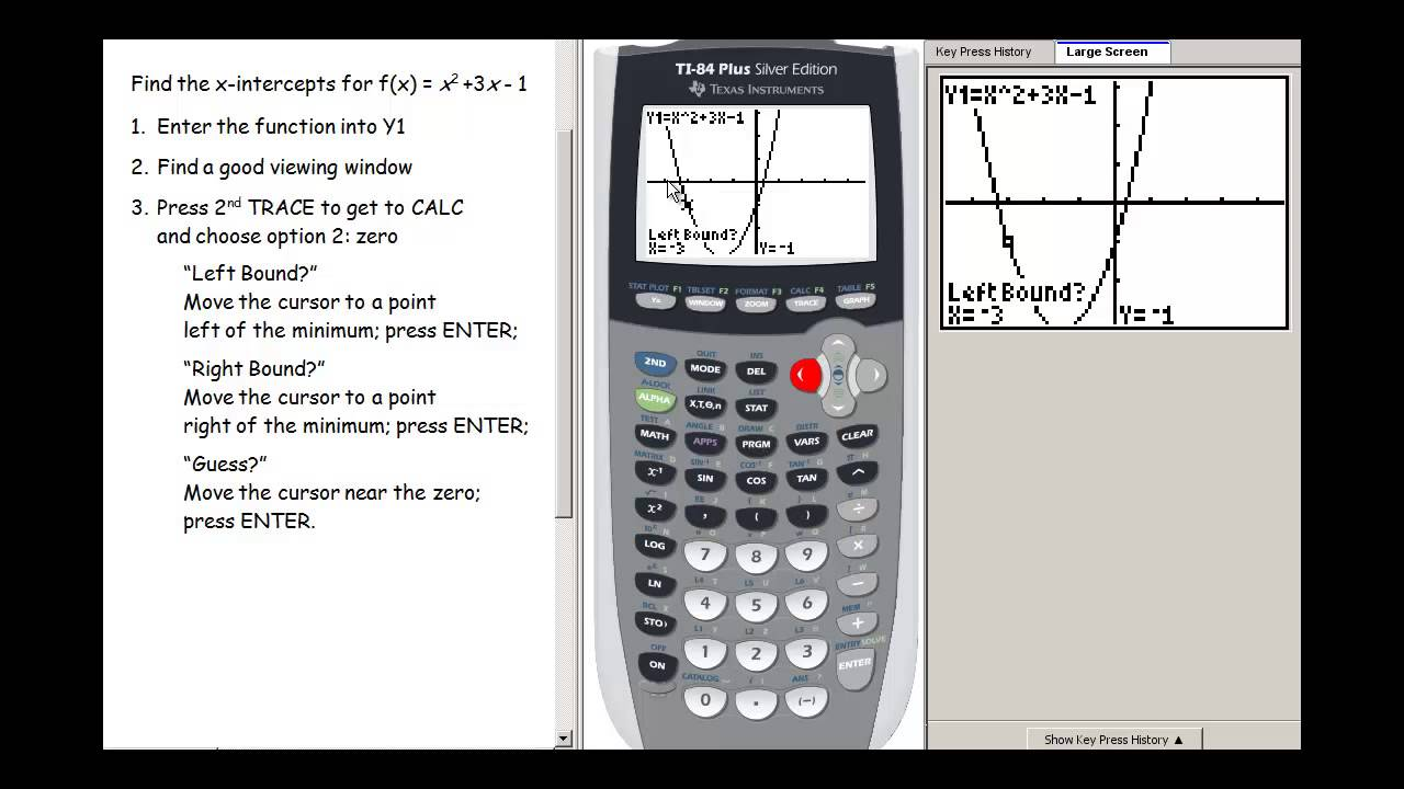 Graphing Calculator Finding Zeros YouTube