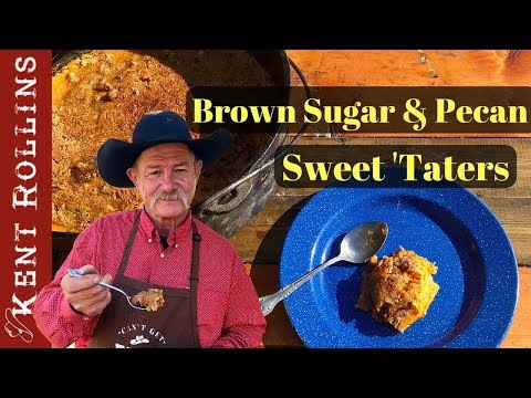 Mashed Sweet Potato Recipe with Brown Sugar and Pecan Topping