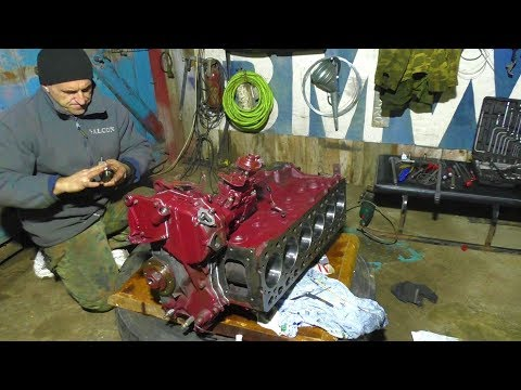 газ 66 свап(gaz 66 swap)дизельного двигателя фиат 5.9 л#3 часть#gaz66#шишига#