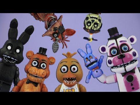 BRICK 101 FNAF roleplay compilation 2   LEGO + McFarlane Toys Five Nights at Freddy's highlights