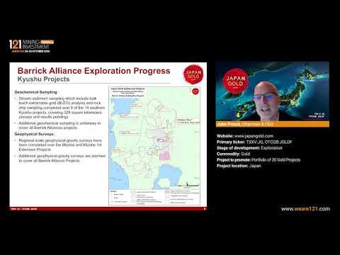 Japan Gold (TSXV:JG; OTCQB:JGLDF) - 121 Mining Investment Americas Online October 2020