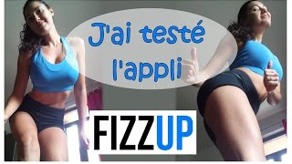 Juliana Teste l'application sportive Fizzup