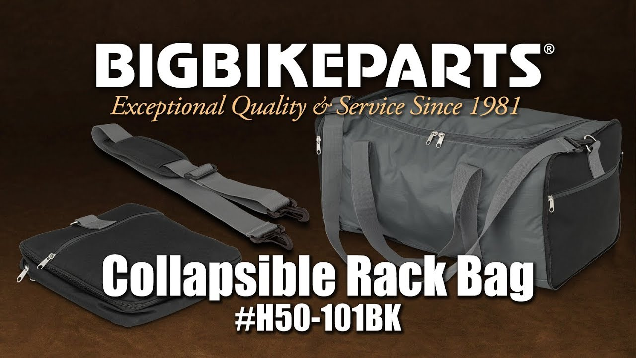 Hopnel H50-101BK Collapsible Motorcycle Trunk Rack Bag