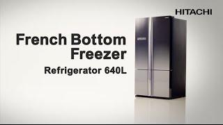 Hitachi French Bottom Freezer