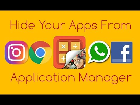 Hide Your Apps From Application Manager