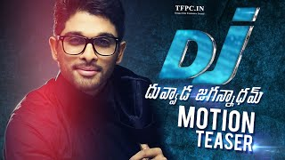 Allu Arjun's Dj Duvvada Jagannadham First Look Logo  Motion Teaser  Fan Made  Tfpc