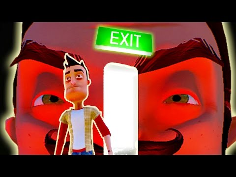 Hello Neighbor Alpha 4 - SECRET ENDING PAST THE BASEMENT! Beat the Game! - Hello Neighbour Gameplay