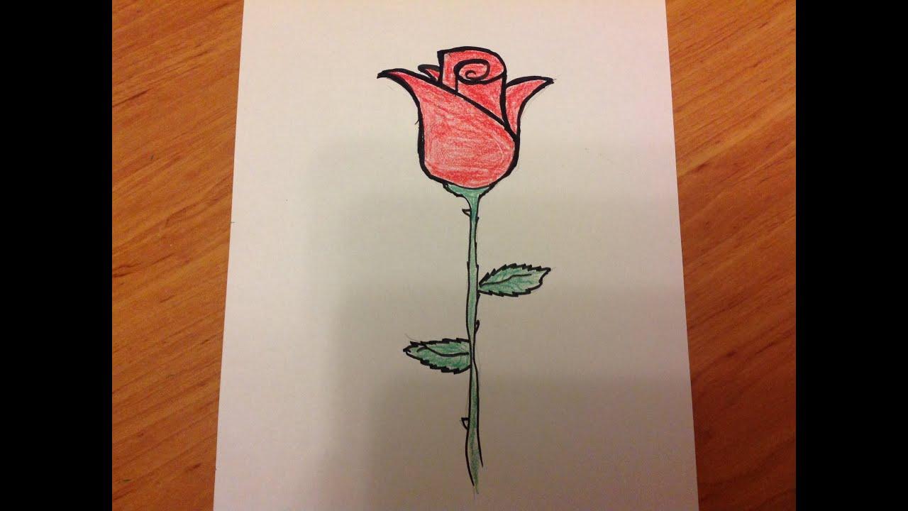 Gül Nasıl çizilir How To Draw A Rose Youtube