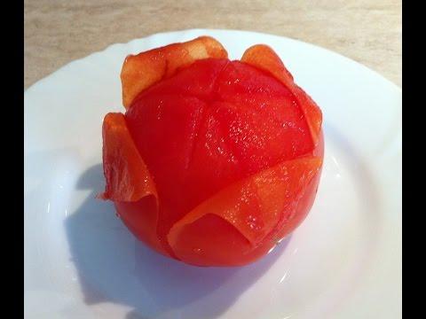 Как очистить кожу с помидора