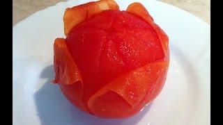 видео Как очистить помидоры