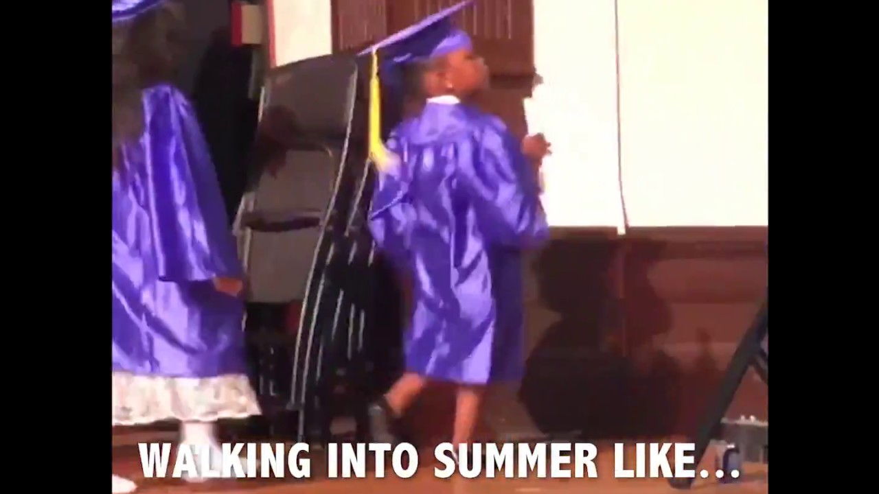 a66ead6e9b Dancing Durham 5-year-old steals show at Pre-K graduation - YouTube