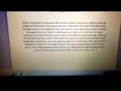 My paragraph on why music is important to me.