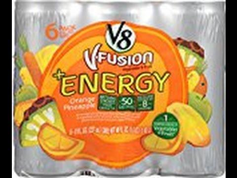 V8 Energy Review >> V8 Energy Orange Pineapple Review Youtube