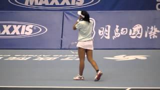 王薔擊球(海碩盃女網賽會外賽)