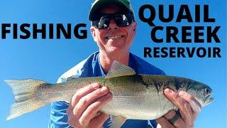 Fishing Quail Creek Reservoir Fall End October Utah