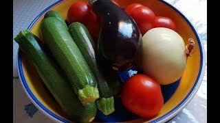 Кабачково баклажаный салат