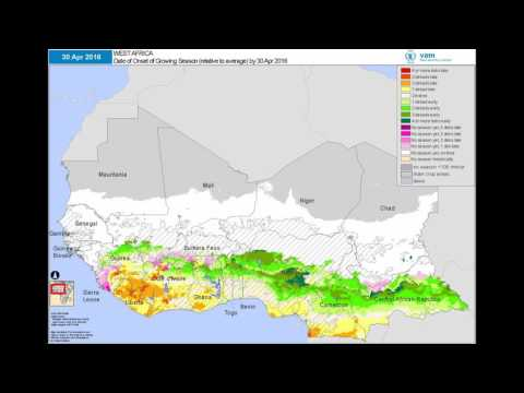 WFP VAM - Seasonal Monitor: West Africa | Start of Season Relative to Average Da