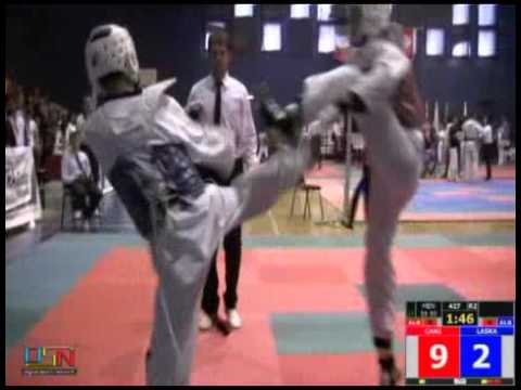 427 Cani, Mr.  Tirana Taekwondo (ALB) vs Laska, Mr.  ' Top Gym Sport ' Albania (ALB)
