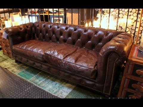 sumptuous design ideas english style sofa. The Sumptuous Distressed Leather Couch  TOP DECOR YouTube