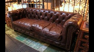 The Sumptuous Distressed Leather Couch