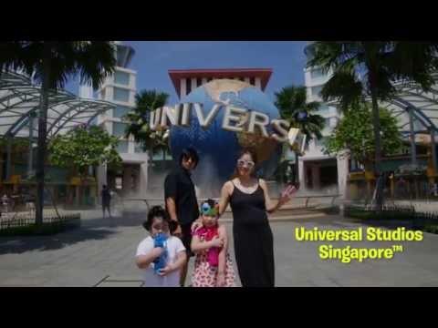 Ple Nakorn and family at Resorts World™ Sentosa | Ple Nakorn และครอบครัวที่ Resorts World Sentosa