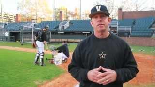 catcher flyball drills with vanderbilt baseball coach tim corbin and atec machines