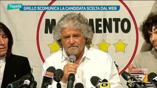 Grillo scomunica la candidata scelta dal web