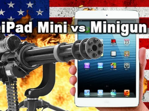 iPad Mini vs Minigun - Tech Assassin - RatedRR - iPad Mini