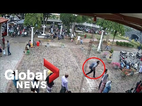 Sri Lanka attacks: Police release footage, images of suspected suicide bombers