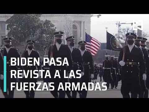 Biden pasa revista a las Fuerzas Armadas de EEUU - Las Noticias