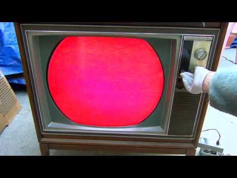 1967 Philco Color Round Tube Television Repair Startup
