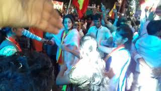 Girls dancing in karnataka rajyotsava belagavi 2017