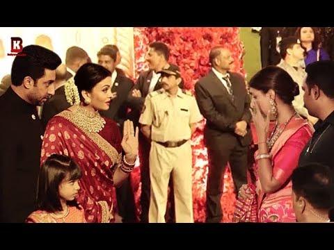 Aishwarya Rai, Abhishek Bachchan, Shweta Bachchan Arrives At Isha Ambani's Wedding Reception