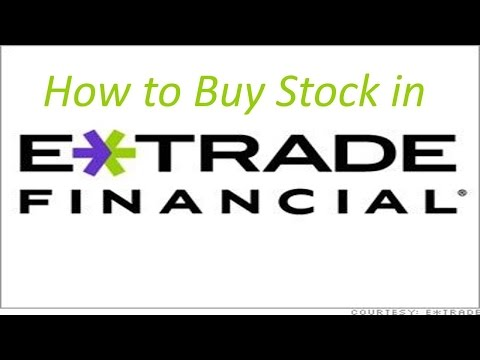 How to Buy Stock in Etrade