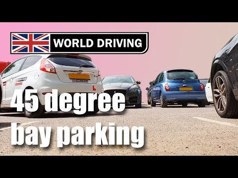 How To Do Reverse Bay Parking Using The 45 Degree Method