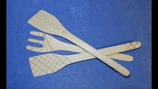 Кухонные лопатки из березы / WOODEN SPATULA / DIY