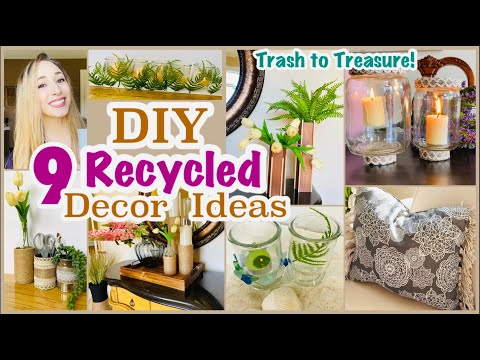 9 Recycled Craft Ideas | DIY Room Decor
